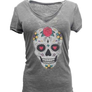 NWT DAY OF THE DEAD HALLOWEEN T-SHIRT